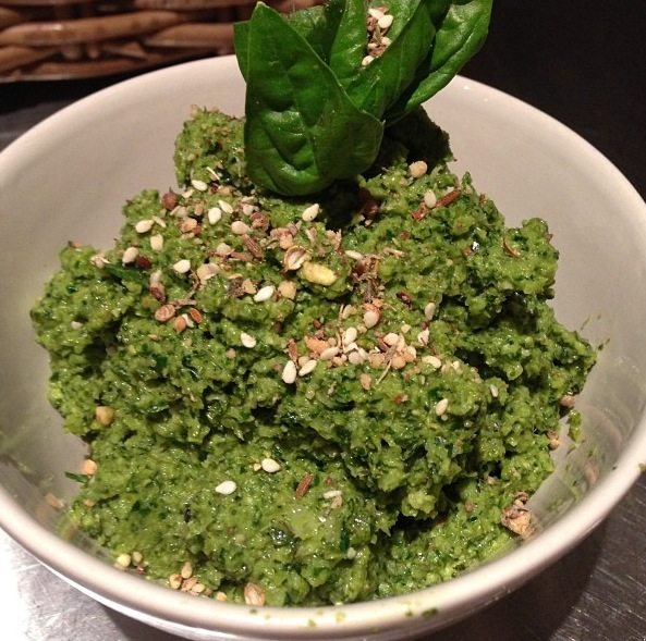 Silverbeet, Broccoli and Basil Pesto