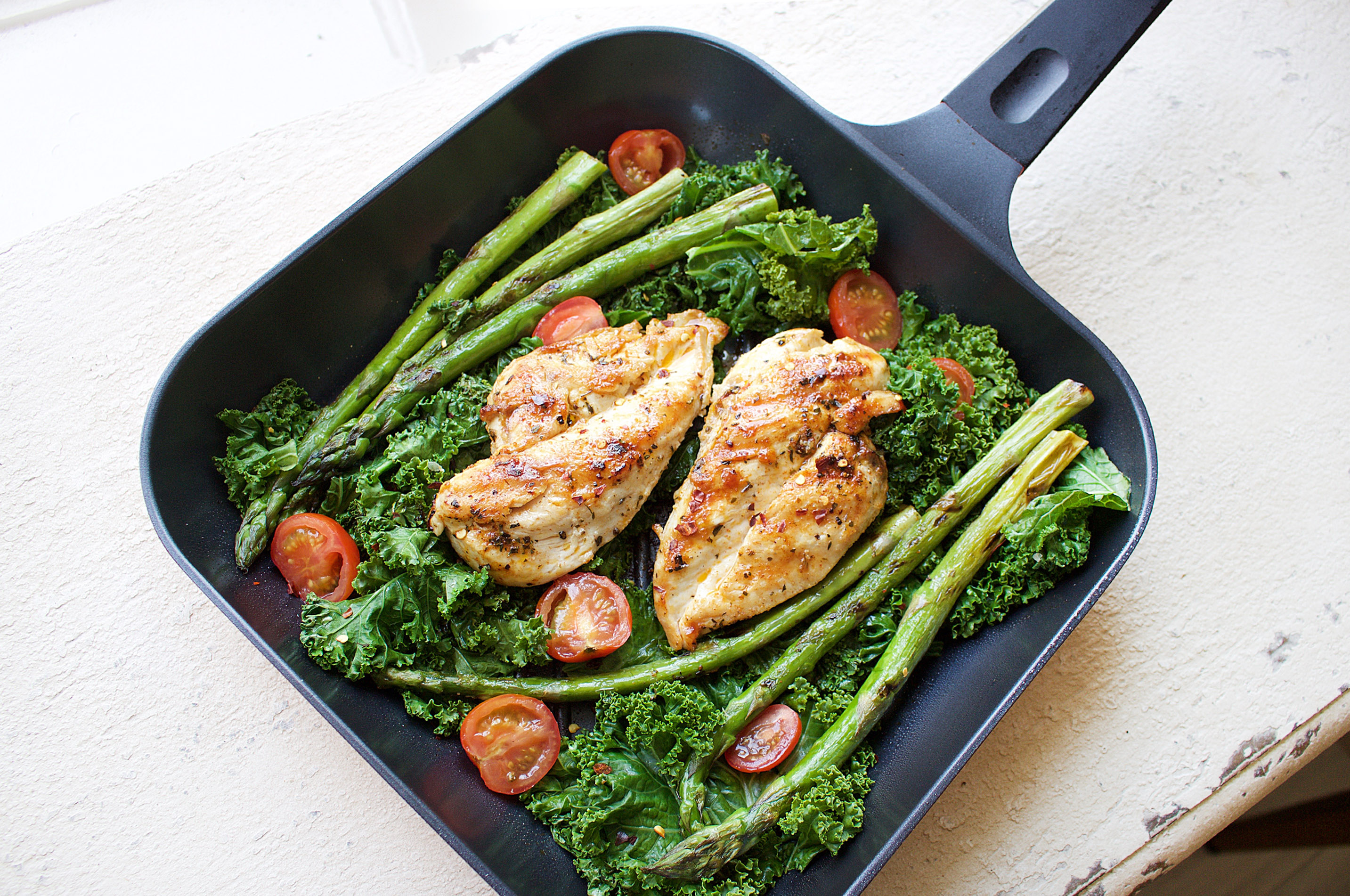 Cajun spiced chicken with sauted kale jshealth using spices like this divine cajun spice and a high quality non stick pan when cooking are great ccuart Image collections