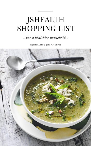 The JSHealth Shopping List - For a healthier household