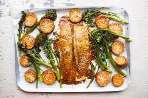 one pan Japanese salmon